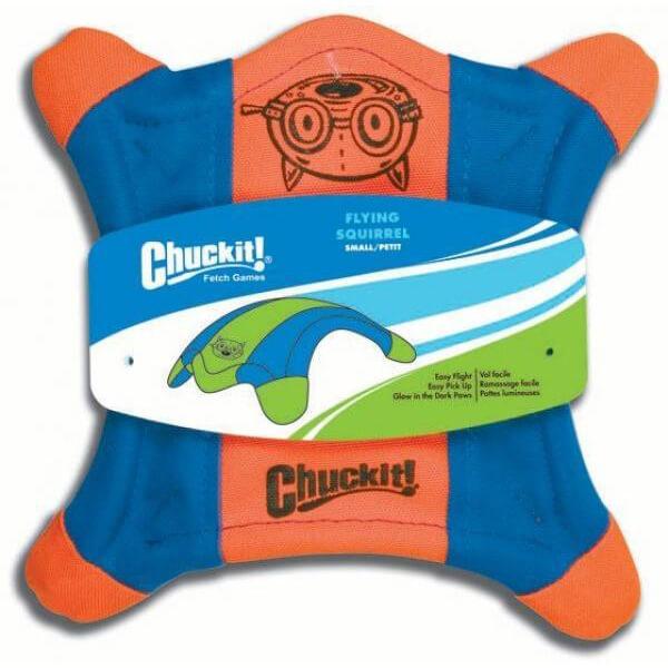 Lietajúci tanier v tvare veveričky Chuckit! - veľkosť S (priemer 22,5 cm)