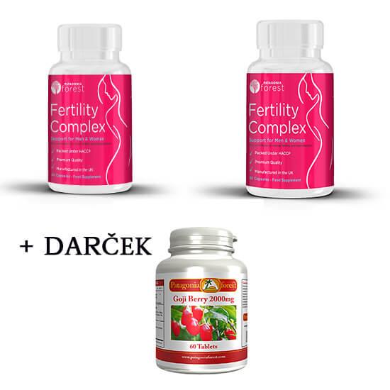2x Fertility komplex pre mužov aj ženy (60 kapsúl) + 1x Superantioxidant Goji Berry ZDARMA