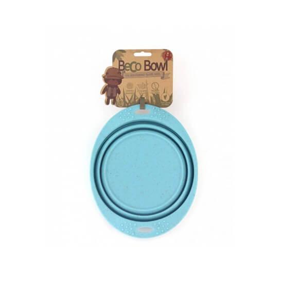 Skladacia miska Beco Bowl Travel modrá - veľkosť S (objem 0,37 l)