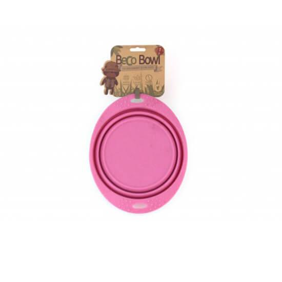 Skladacia miska Beco Bowl Travel ružová - veľkosť S (objem 0,37 l)