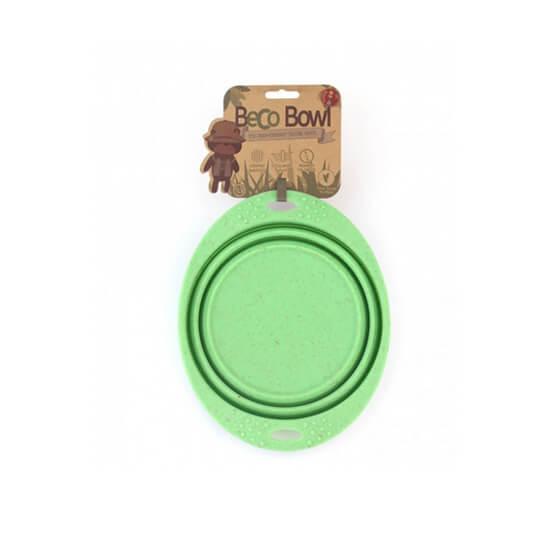 Skladacia miska Beco Bowl Travel zelená - veľkosť S (objem 0,37 l)
