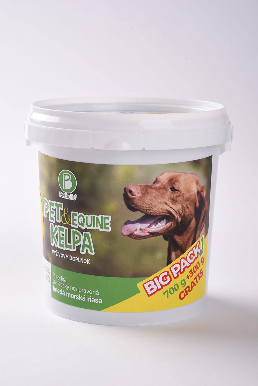 Doplnok výživy pre psa Petbelle Pet & Equine Kelpa - prírodný zdroj vitamínov a minerálov 700 g + 300 g GRÁTIS