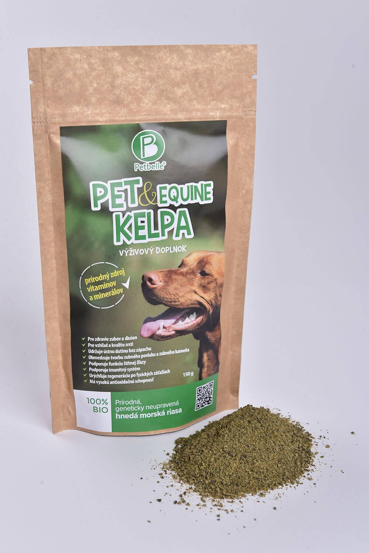 Doplnok výživy pre psa Petbelle Pet & Equine Kelpa - prírodný zdroj vitamínov a minerálov 150 g