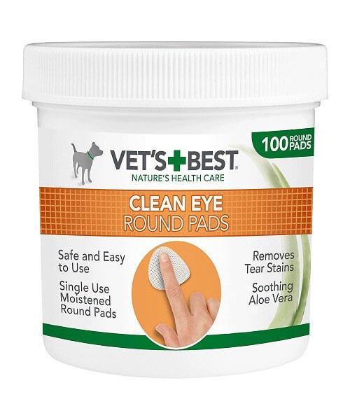 Čistiaca utierka na oči pre psov Vet´s Best 100 ks