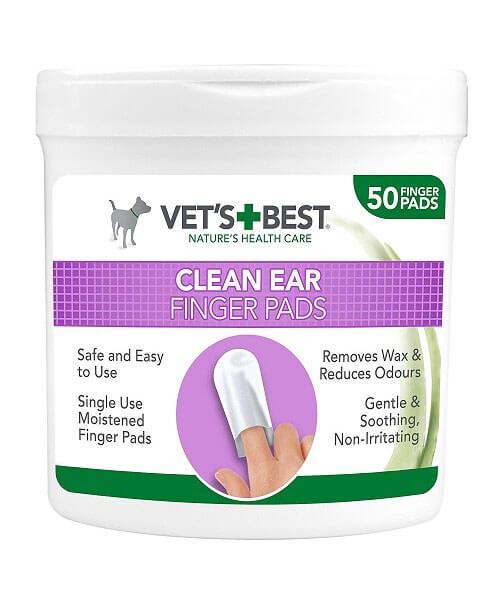 Čistiaca utierka na uši pre psov - náprstky Vet´s Best 50 ks