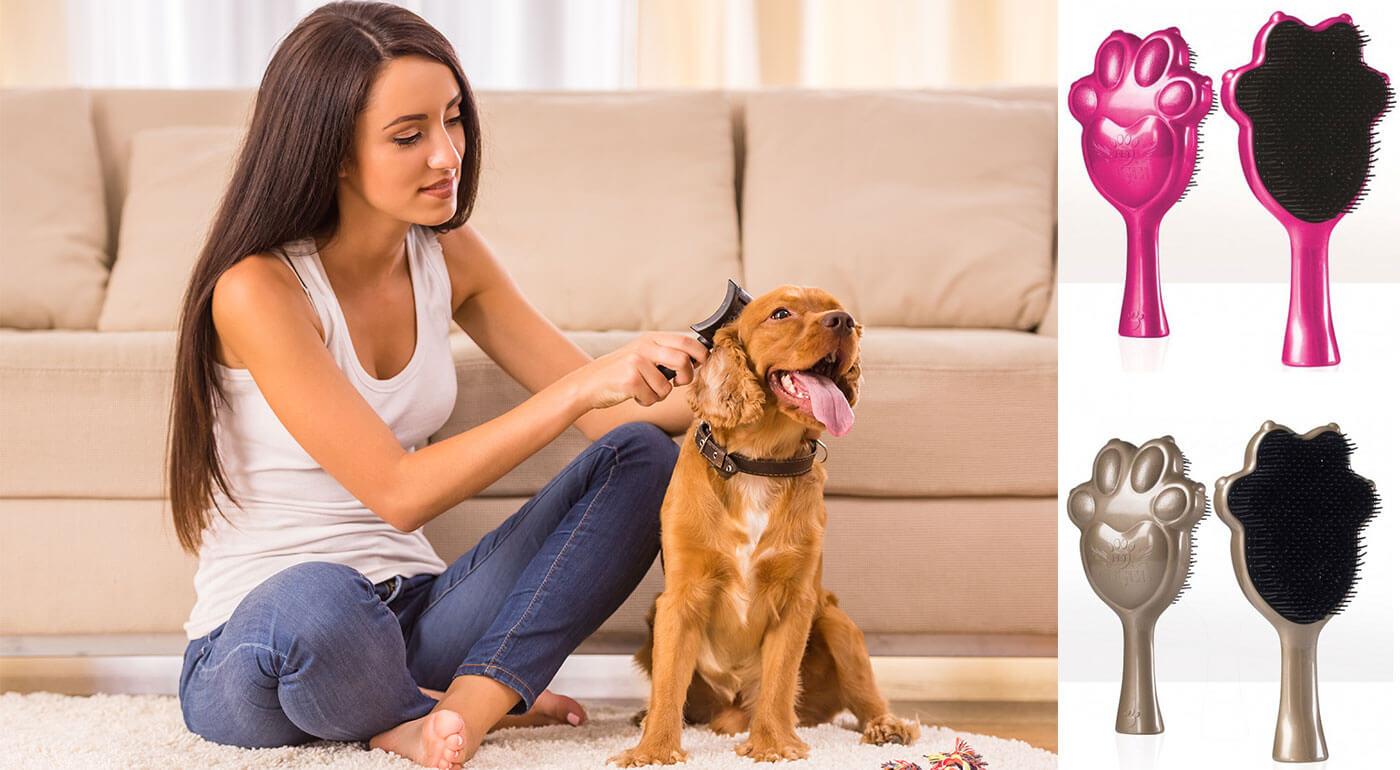 Kefa pre psy a mačky Pet Angel - antibakteriálna a antistatická kefka pre hladkú a zdravo vyzerajúcu srsť