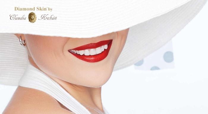 Zľava 87%: Staňte sa neodolateľnou vďaka žiarivo bielemu úsmevu a to len za 15 minút! Belšie zuby o 1 až 5 odtieňov s unikátnou technológiou Diamond Skin® AIR BRUSH.