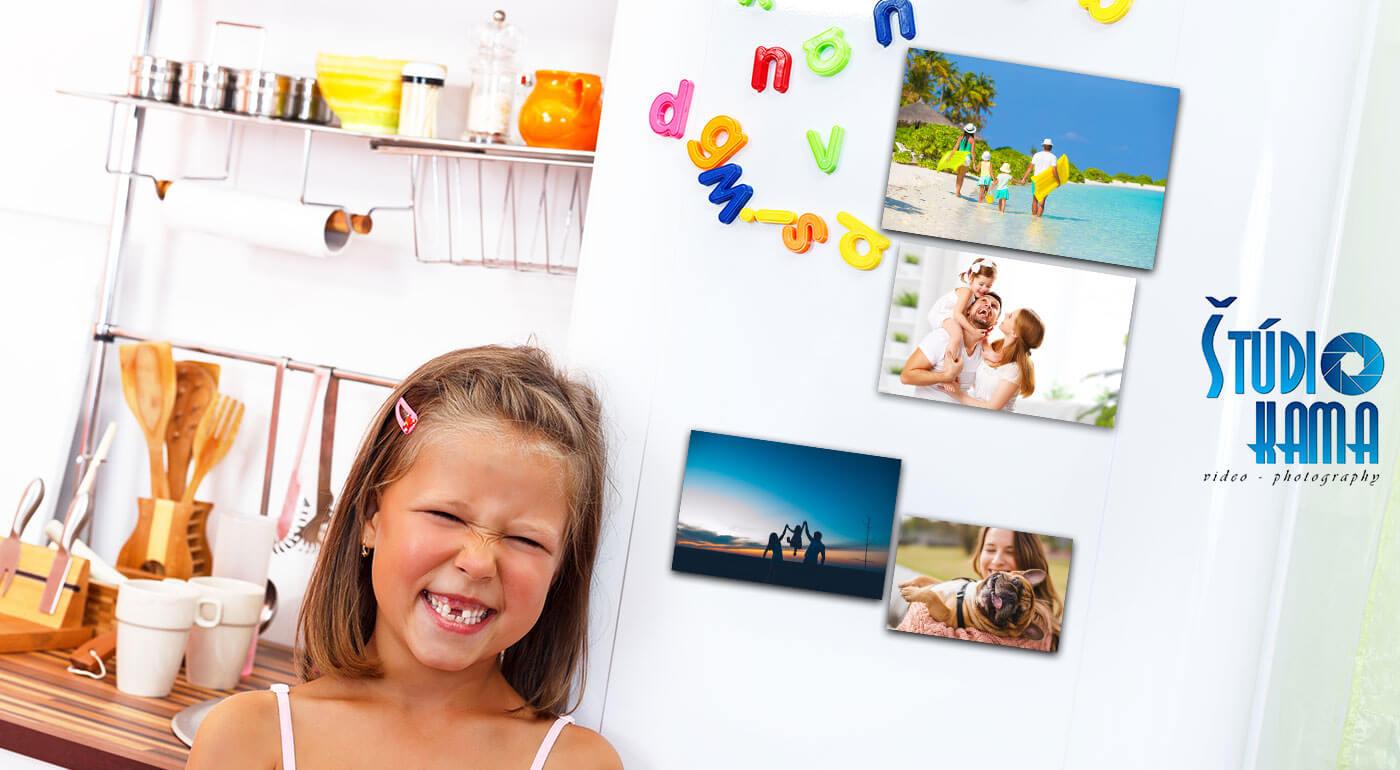 Originálne fotomagnetky s vašimi najkrajšími fotografiami - na výber 4 veľkosti a k tomu jedna fotografia vo formáte A4 grátis!