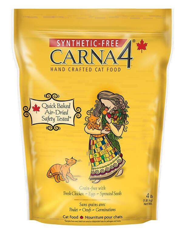 Krmivo pre mačky Carna4 s kuracím mäsom 1,8 kg