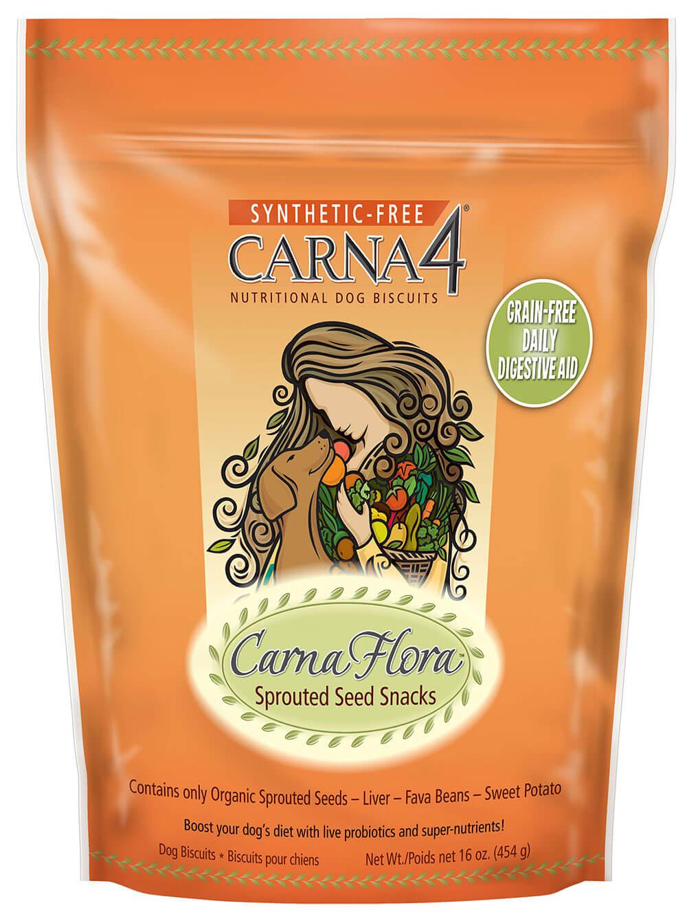 Sušienky pre psov Carna4 Flora Snacks 454 g