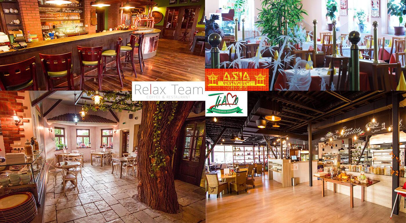 Zľava z účtu kuchyne v trnavských reštauráciách Relax, Tiamo a Asia Restaurant - špeciálne kupóny na 50% zľavu
