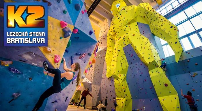 Zdolajte najväčšiu lezeckú stenu na Slovensku! Dvojhodinový kurz lezenia pre začiatočníkov i pokročilých s inštruktorom vrátane 1 vstupu na lezeckú stenu a zapožičaním výstroja.