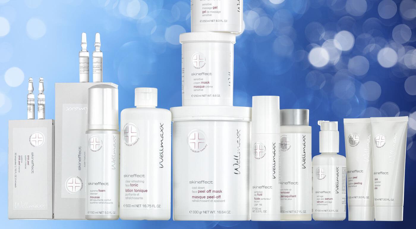 Špeciálna kozmetika Wellmaxx Skineffect pre citlivú pleť - v ponuke aj kabinetné balenia pre salóny