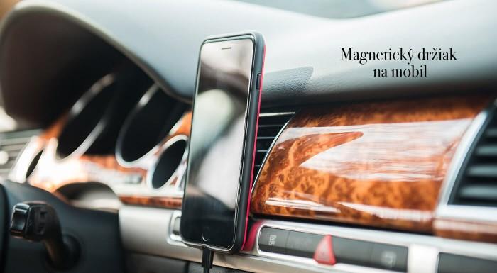 Sústreďte sa pri šoférovaní na volant a cestu pred sebou! Váš mobil vám spoľahlivo podrží praktický magnetický držiak na všetky typy telefónov.