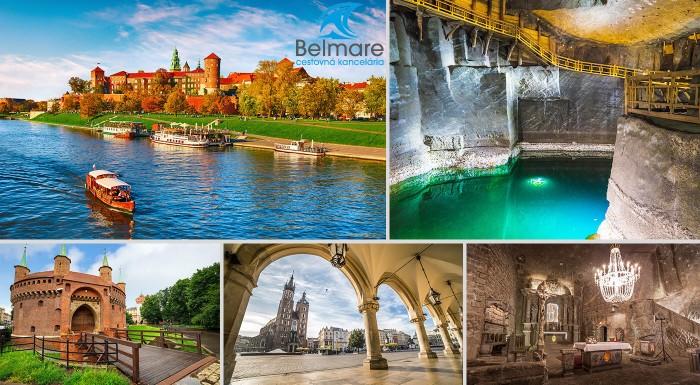 Zľava 28%: Pripravte sa na jesenné poznávanie Poľska. Vyberte sa na zájazd do Krakowa s návštevou soľnej bane Wieliczka. S CK Belmare stačí nasadnúť na autobus!