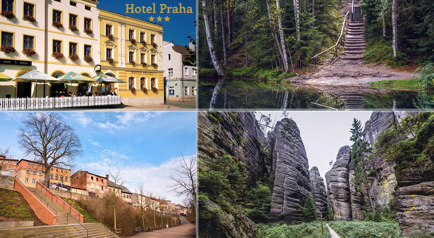 Adršpachy, Hotel Praha***: pobyt pre 2 osoby s polpenziou blízko Adršpašsko-Teplických skál