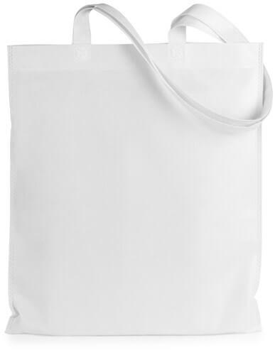 Eko taška z netkaného textilu rozmery 36x40 cm - biela