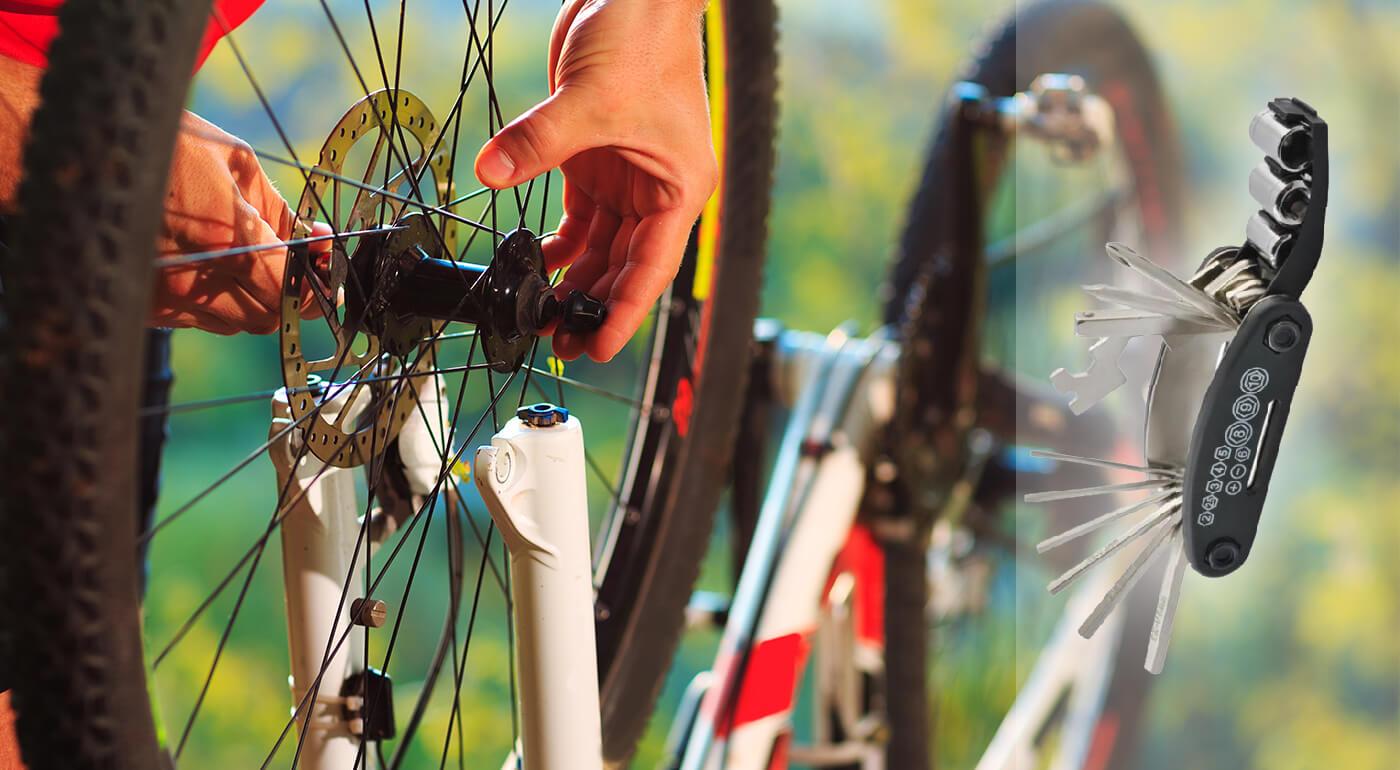 Sada kľúčov na bicykel - 16 nástrojov na opravu bicykla v 1 kompaktnom balení