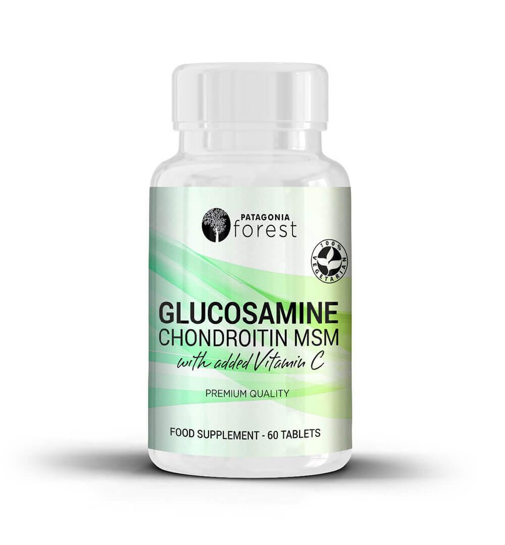Patagonia Forest: Doplnok pre zdravé kosti a kĺby Glokozamín Chondroitín MSM (60 tabliet)