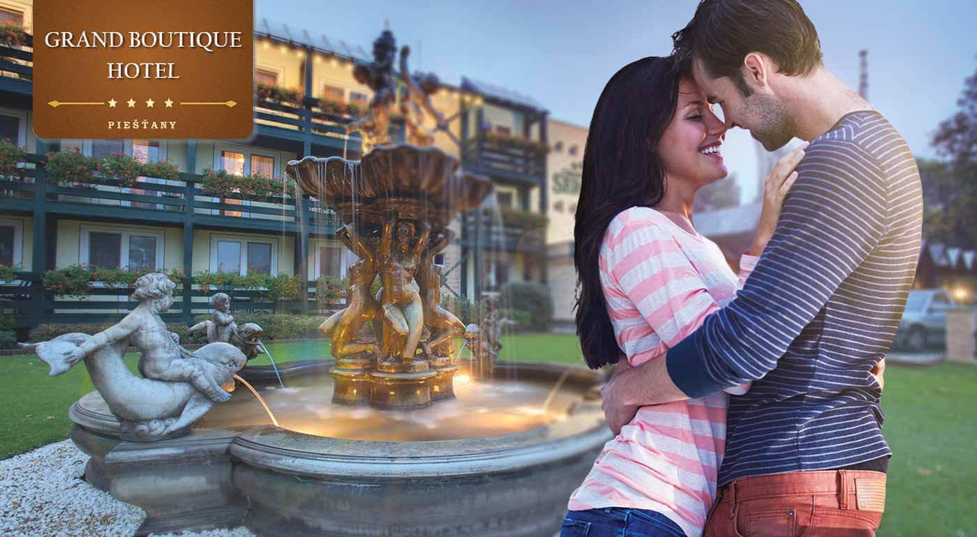 Romantický pobyt na 2 dni v luxusnom Grand Boutique Hoteli Sergijo**** Piešťany s neobmedzeným wellness