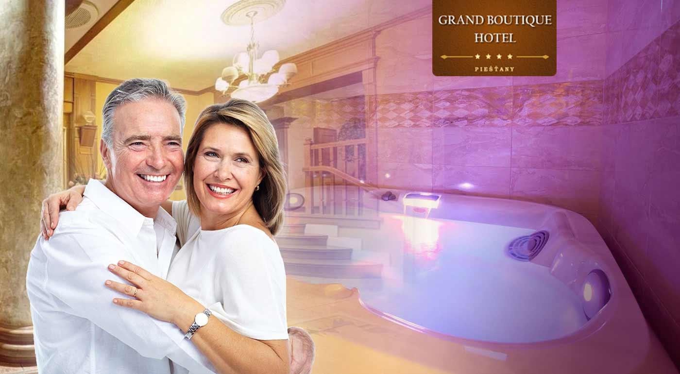 Senior pobyt v Grand Boutique Hoteli Sergijo**** Piešťany s polpenziou a luxusnými wellness procedúrami