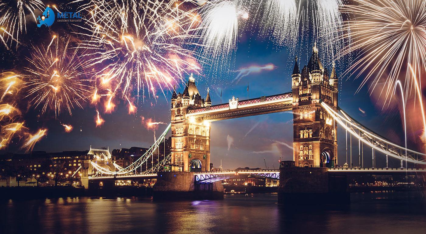 Londýn na Silvestra alebo 4-dňový zájazd za oslavou Nového roka v britskom štýle so sektom pre pár