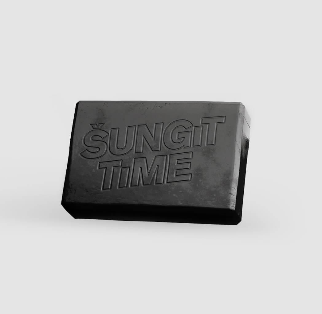 Šungit Time Exkluzívne prírodné mydlo 80 g