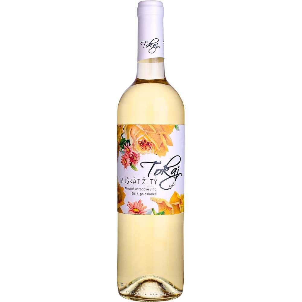 Víno Tokaj Muškát Flowers akostné polosladké 0,75 l