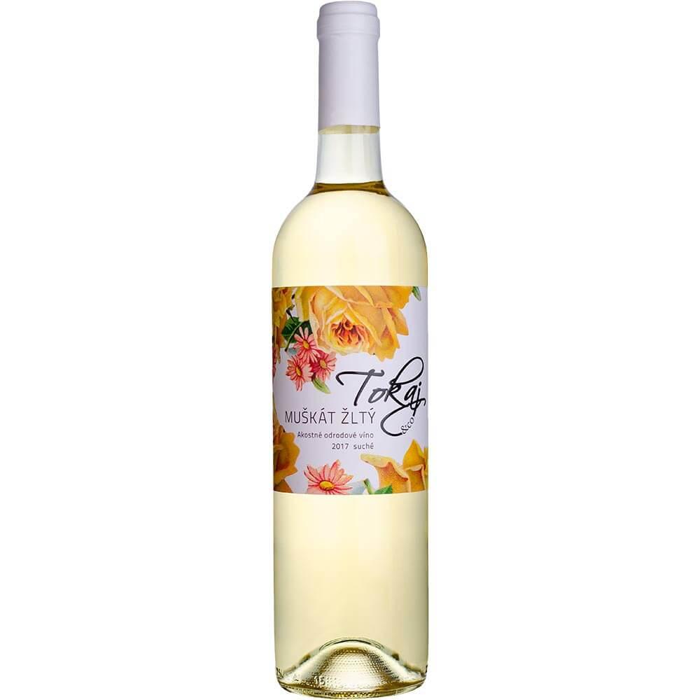 Víno Tokaj Muškát Flowers akostné suché 0,75 l