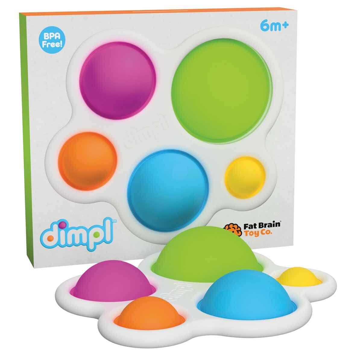 Fat Brain Toys Dimpl - senzorická hračka pre deti od 6 mesiacov
