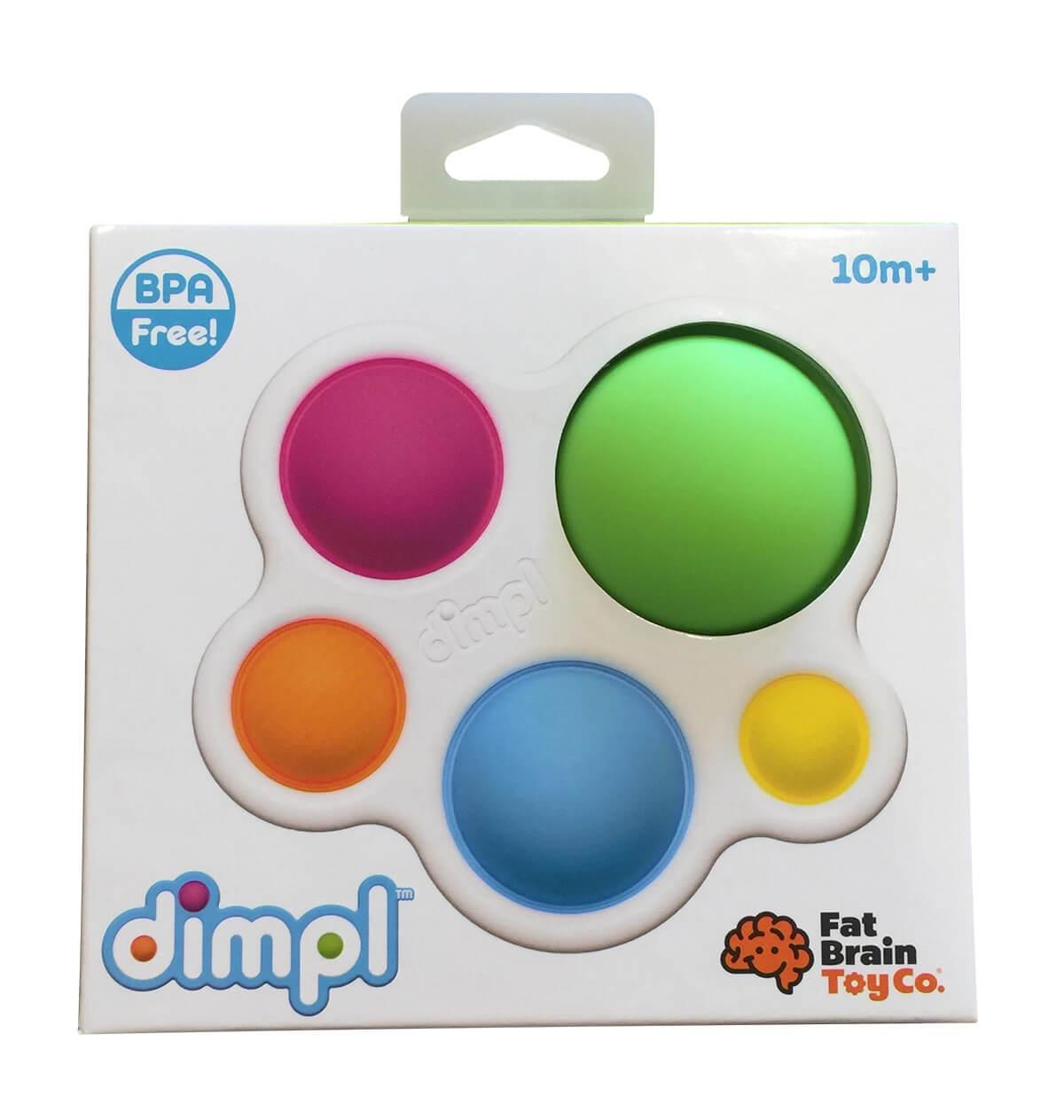 Fat Brain Toys Dimpl - senzorická hračka pre deti od 10 mesiacov