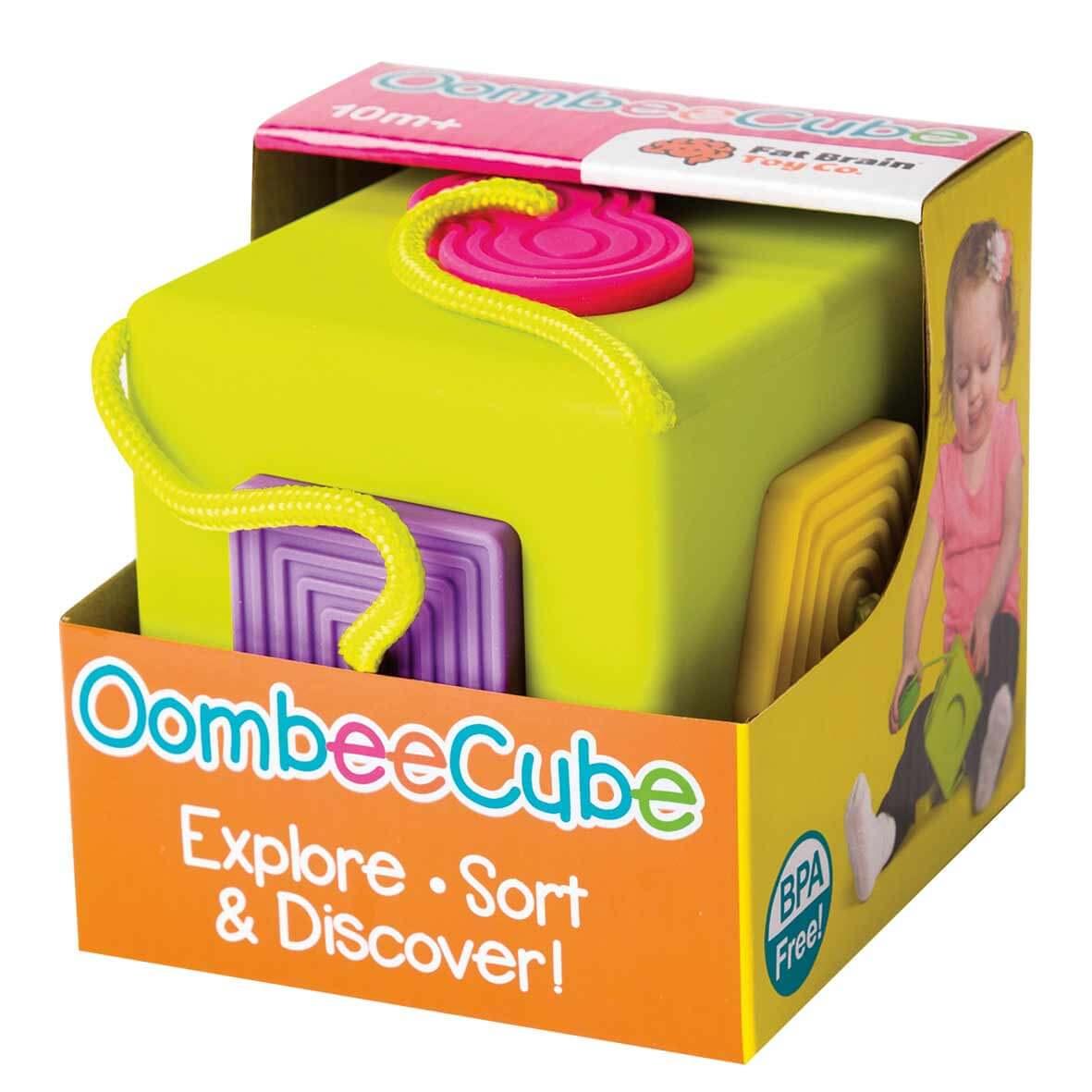Fat Brain Toys Didaktická kocka OombeeCube pre deti od 10 mesiacov