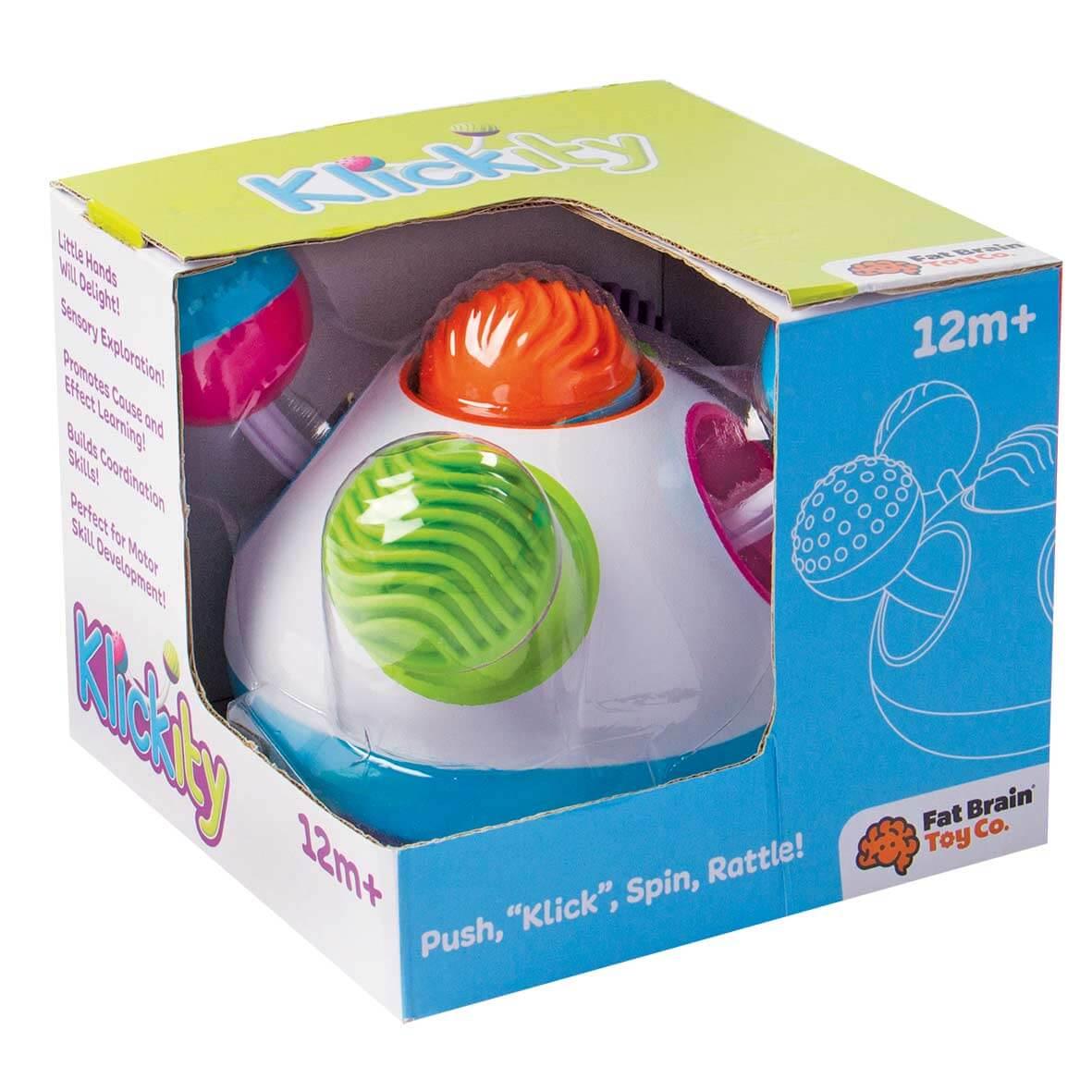Fat Brain Toys Hračka Klickity pre deti od 12 mesiacov