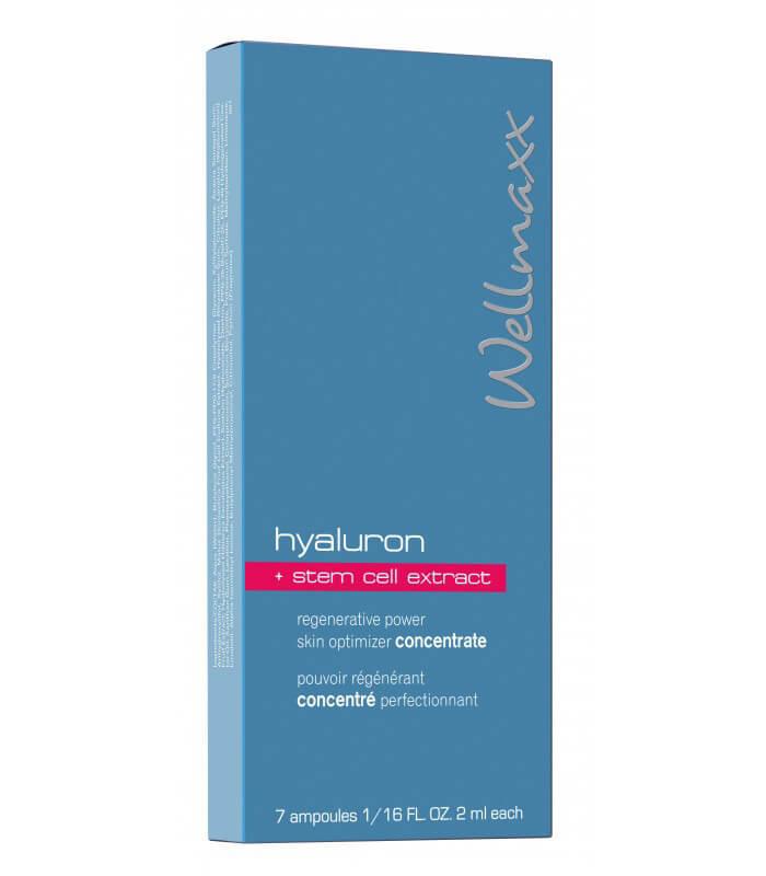 Ampulky Wellmaxx Hyaluron + kmeňové bunky, koncentrát 7x2 ml