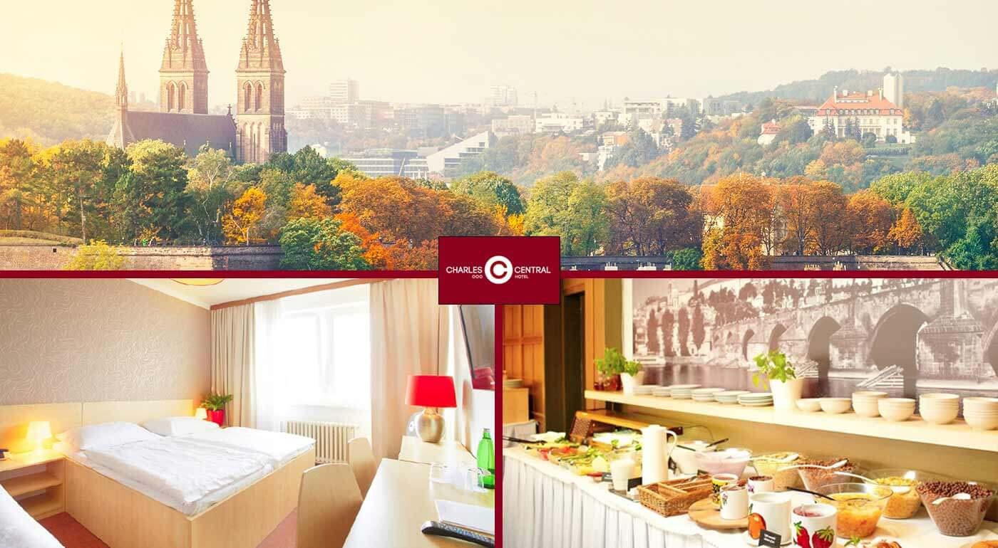 Skvelé 3 dni v Hoteli Charles Central*** Praha pre dvoch