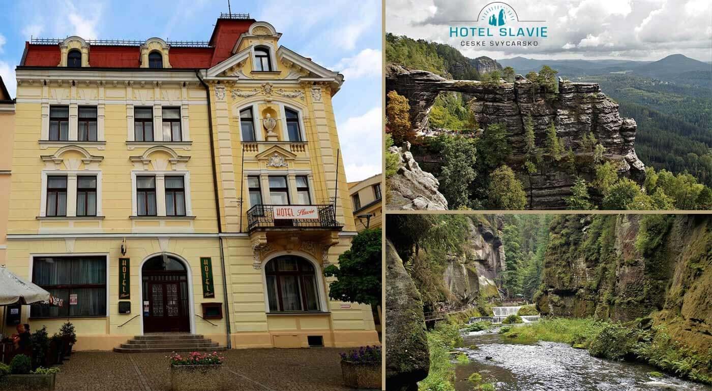 Česko: Rodinná dovolenka v Hoteli Slavie neďaleko Národného parku České Švýcarsko