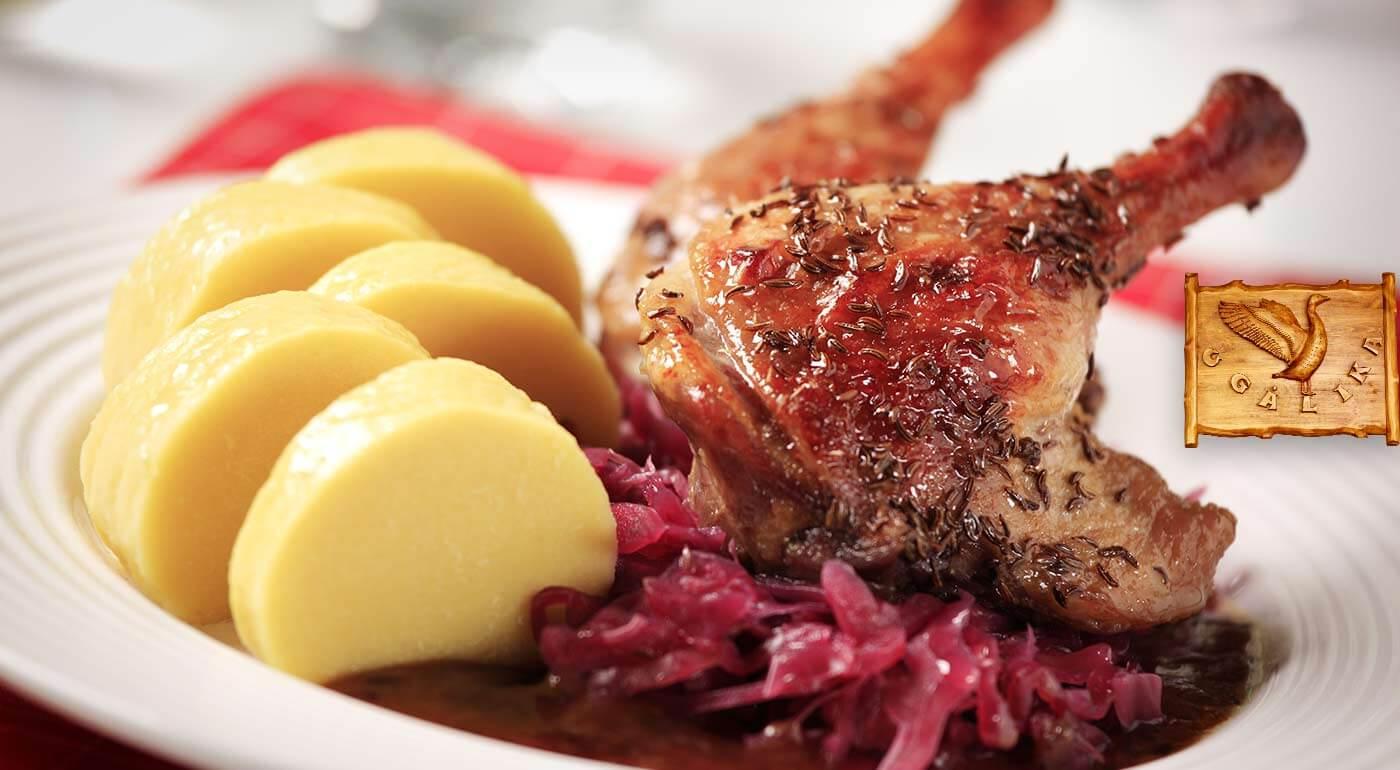 Husacie a kačacie hody v reštaurácii Husacina u Galika v hodnote 100 €