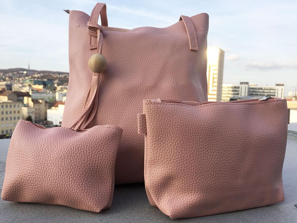 Sada dámskych kabeliek - ružová