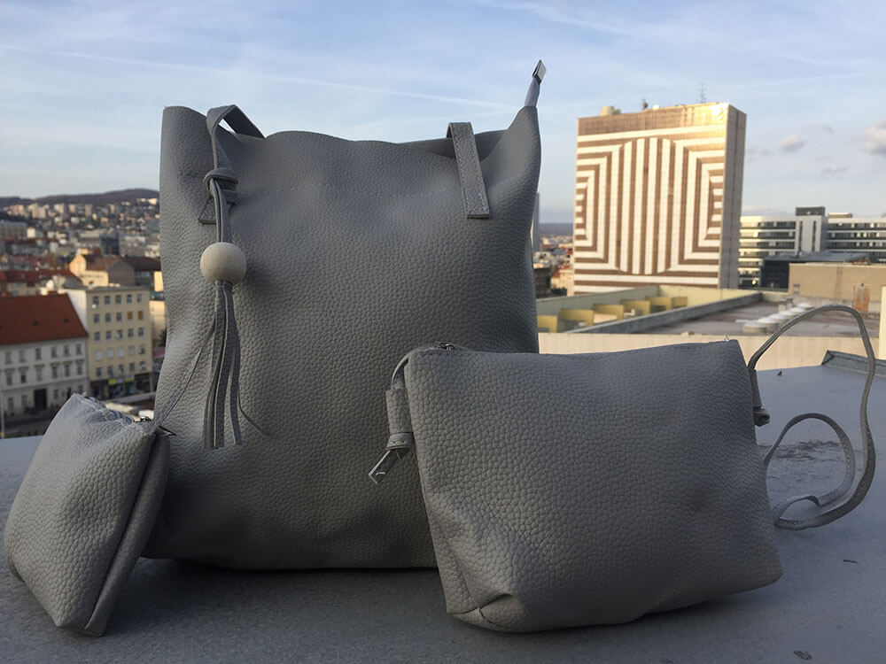 Sada dámskych kabeliek - sivá