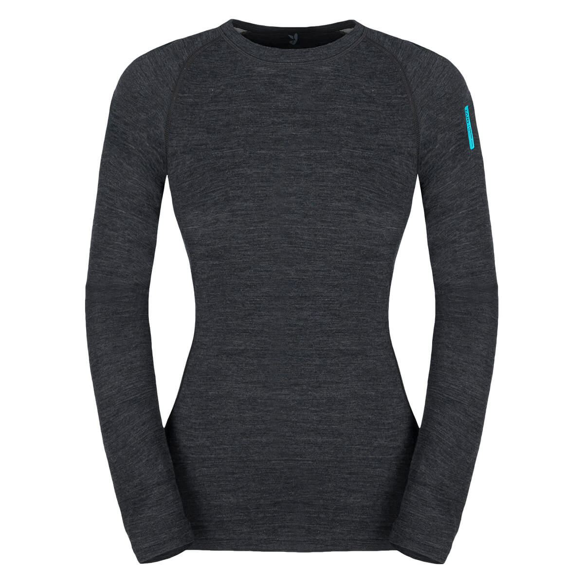 Dámske tričko Zajo Nora Merino W T-shirt LS Black - veľkosť XS