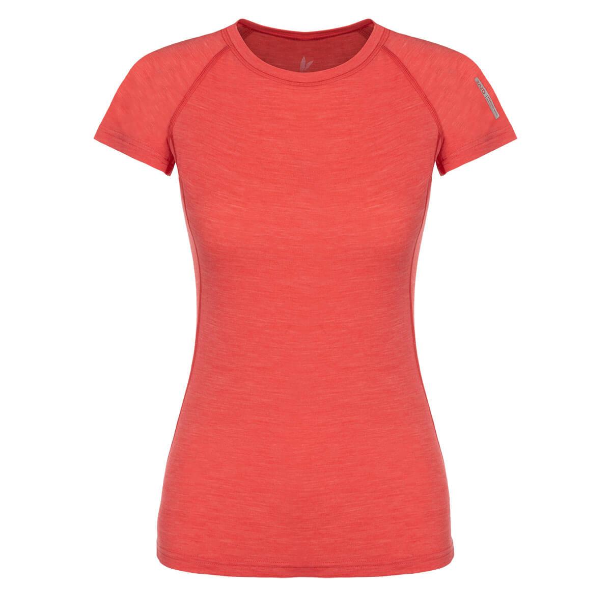 Dámske tričko Zajo Elsa Merino Nylon T-shirt SS Coral - veľkosť XS