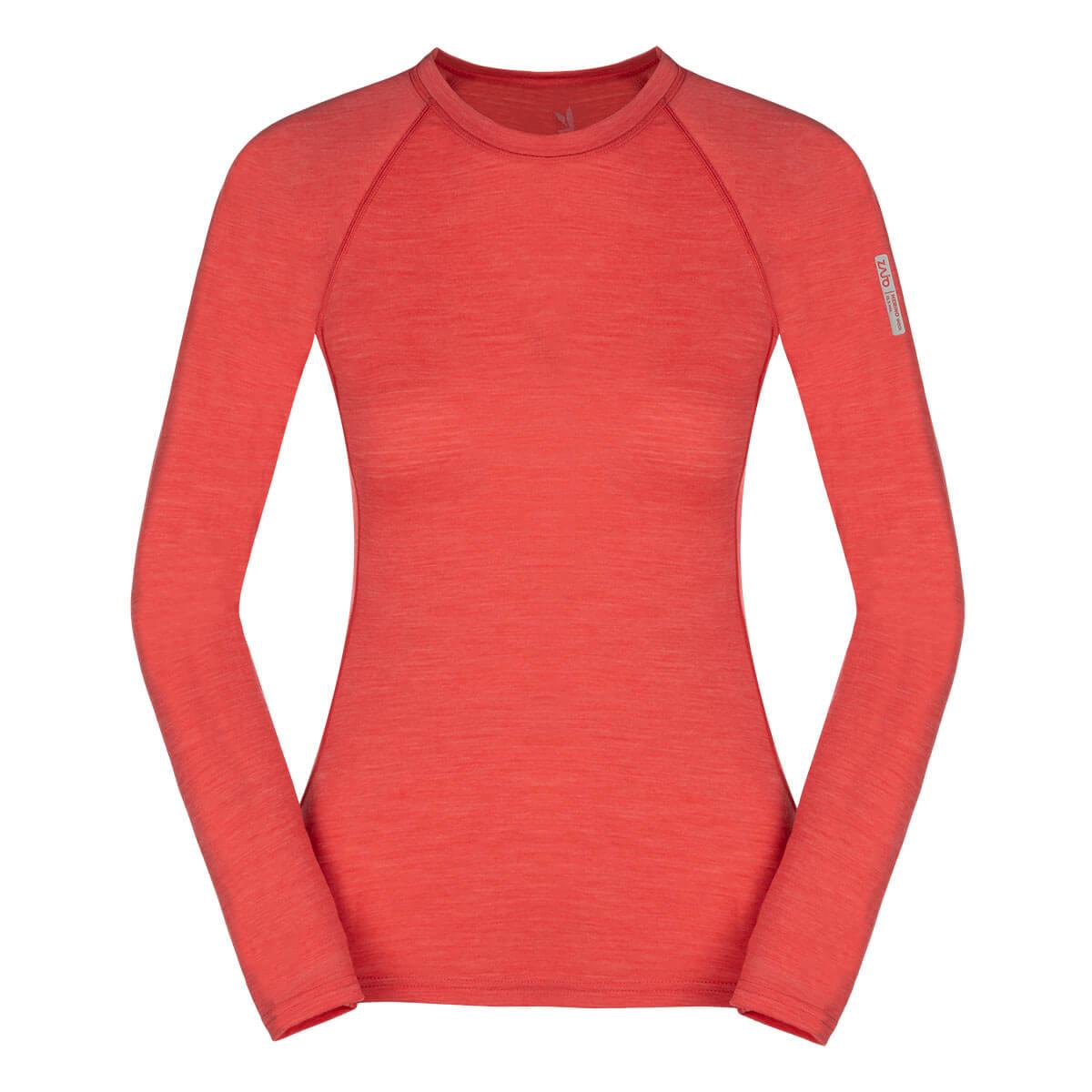 Dámske tričko Zajo Elsa Merino Nylon W T-shirt LS Coral - veľkosť XS