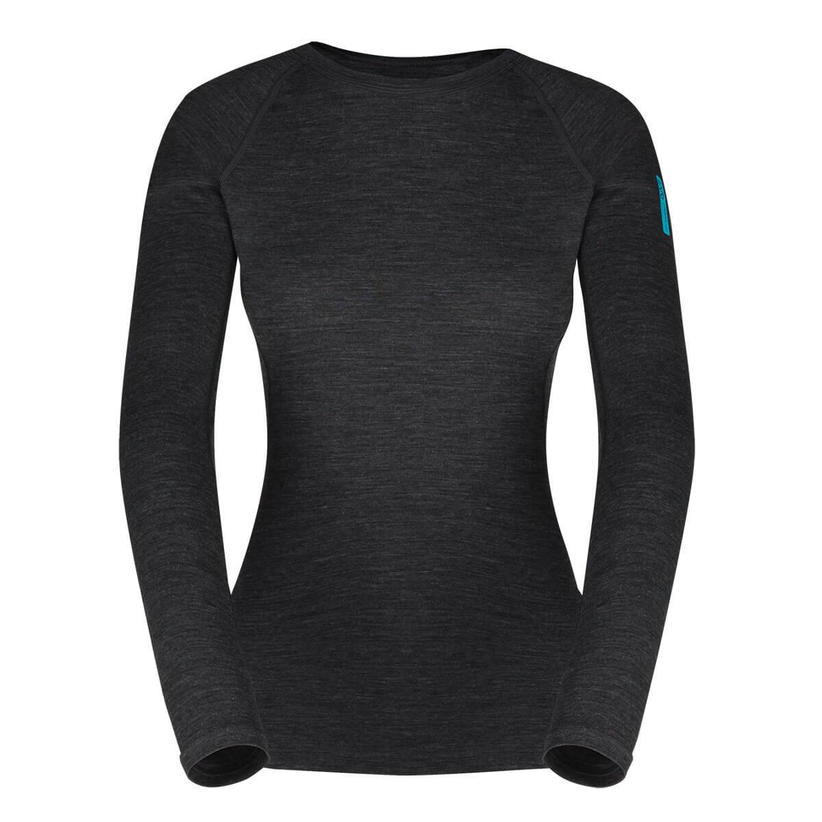 Dámske tričko Zajo Elsa Merino Nylon W T-shirt LS Black - veľkosť XS