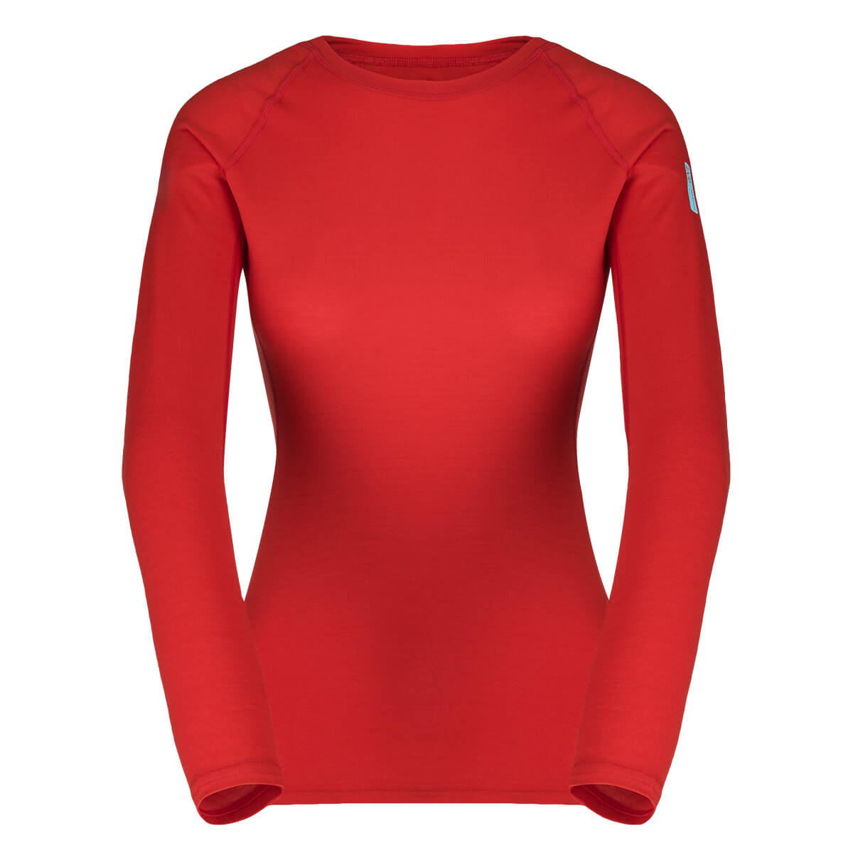 Dámske tričko Zajo Elsa Merino Nylon W T-shirt LS Racing Red - veľkosť XS