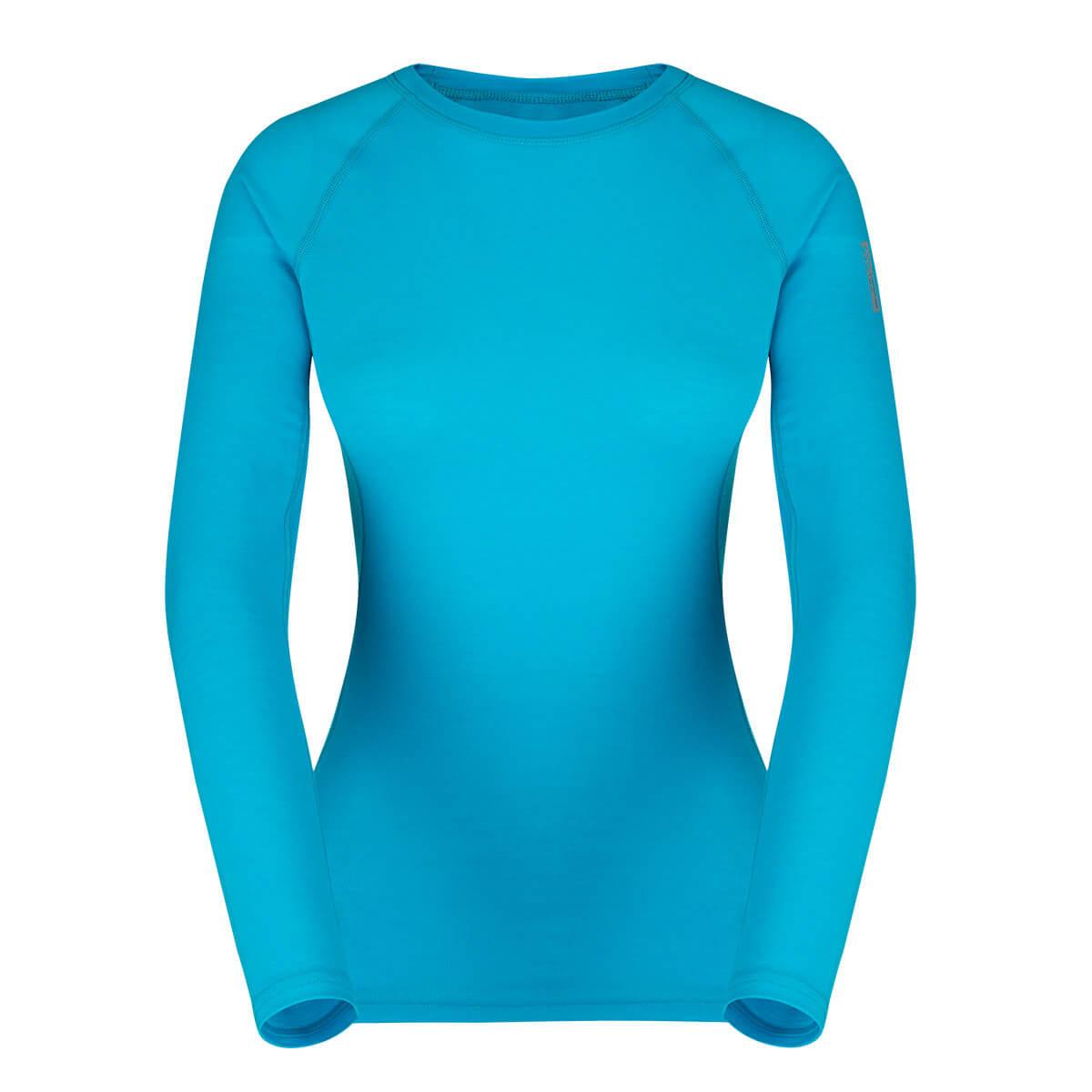 Dámske tričko Zajo Elsa Merino Nylon W T-shirt LS Curacao - veľkosť XS
