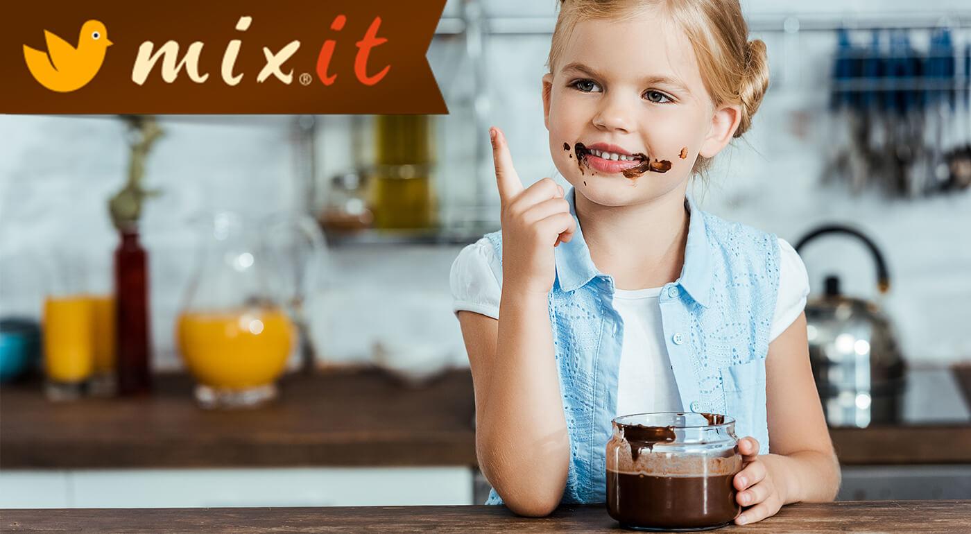 MIXIT Famózny krém Mixitella s belgickou čokoládou bez pridaného cukru