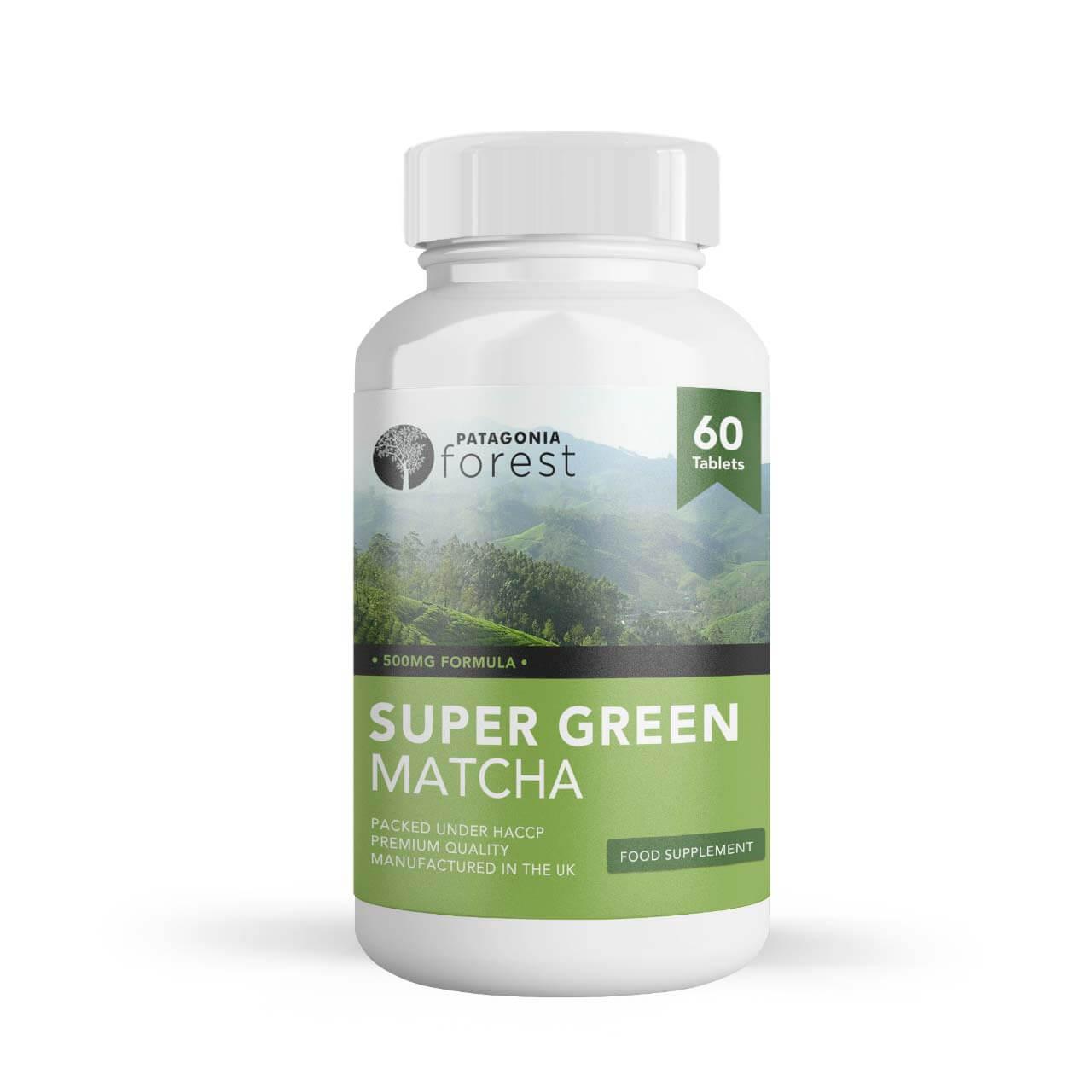 Patagonia Forest: Super Green Matcha - extra jemný zelený čaj (balenie 60 tabliet)