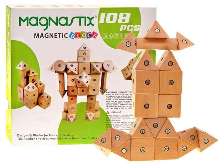 Drevená stavebnica Magnastix 21 dielov
