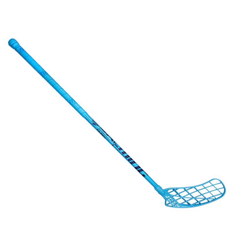 Florbalová hokejka Salming Campus Aero 32 modrá - ľavá (dĺžka palice 96 cm)
