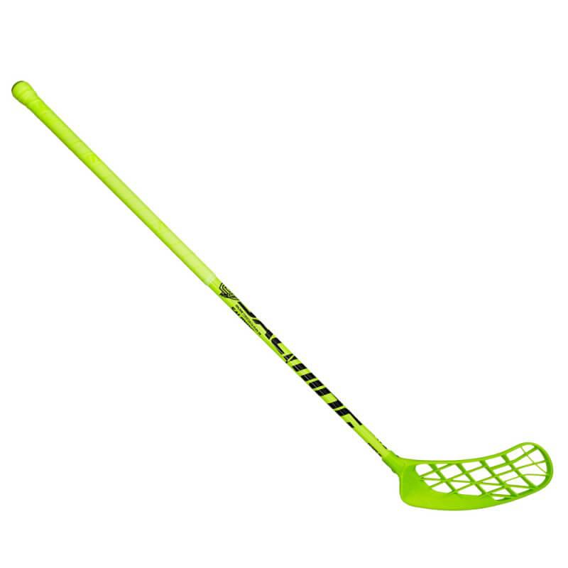 Florbalová hokejka Salming Campus Xplode 30 zelená - ľavá (dĺžka palice 96 cm)